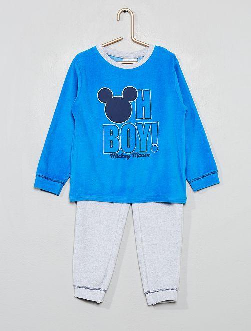 Pijama de terciopelo 'Mickey'                                         azul/gris