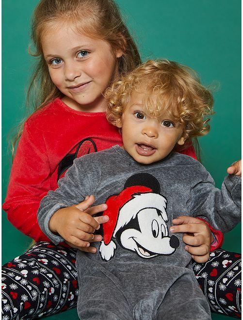 Pijama de terciopelo 'Mickey'                                         GRIS