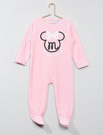 Niña 0-36 meses - Pijama de terciopelo 'Minnie' - Kiabi