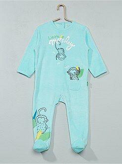 Niño 0-36 meses - Pijama de terciopelo 'monos' - Kiabi