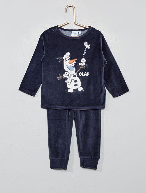 Pijama de terciopelo 'Olaf'                                         AZUL