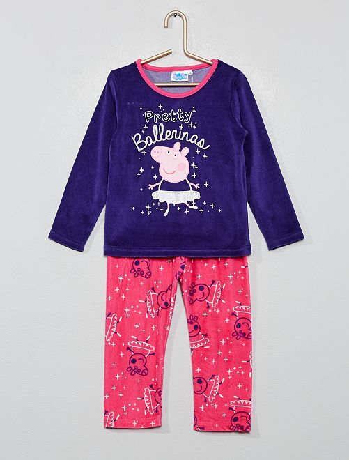 Pijama de terciopelo 'Peppa Pig'                                         AZUL