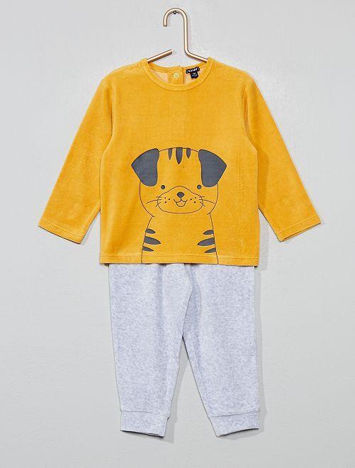 Pijama de terciopelo 'perro'                                                     AMARILLO