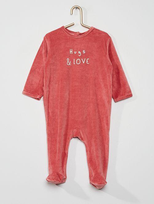 Pijama de terciopelo                                                                                         ROSA