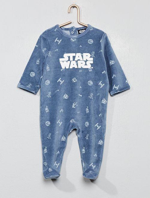 Pijama de terciopelo 'Star Wars'                             AZUL Bebé niño