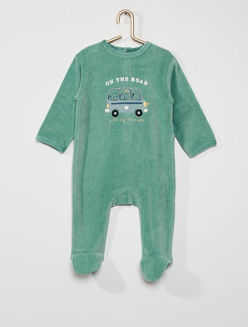 Pijama de terciopelo                                                                                                                                                                                                                                                                             VERDE