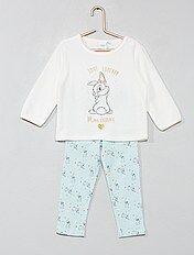 Pijama de terciopelo y punto 'Conejita'