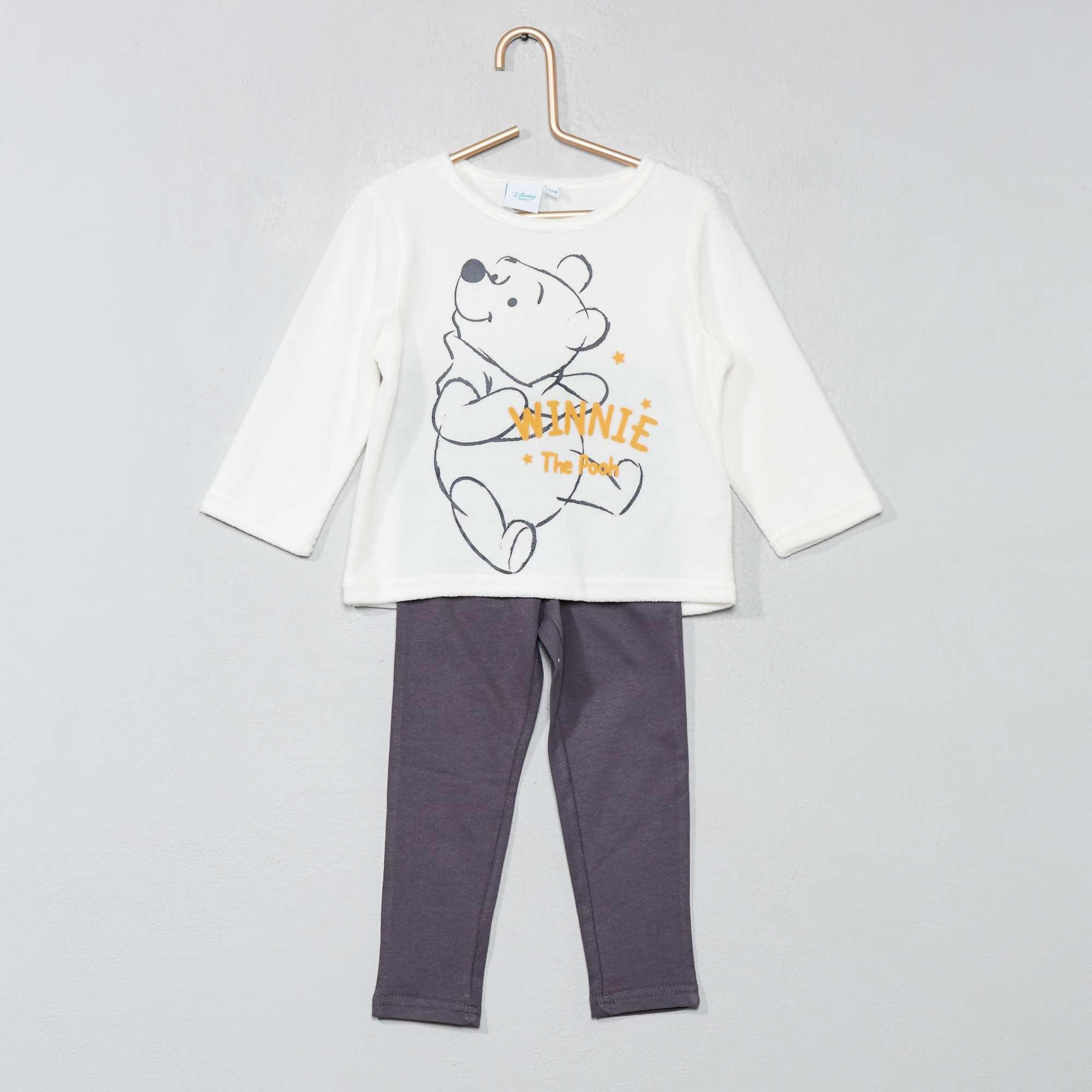b3955e6fd Pijama de terciopelo y punto 'Mickey' BLANCO Bebé niño. Loading zoom