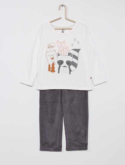 Pijama de terciopelo 'zorro'                                         GRIS
