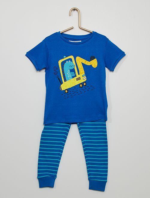 Pijama 'dinosaurio' + pantalón largo                             azul