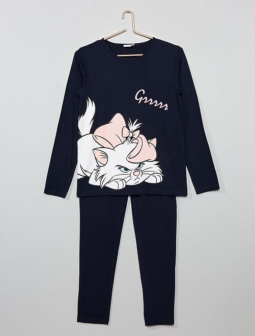 Pijama 'Disney' 'Marie'                                                     NEGRO