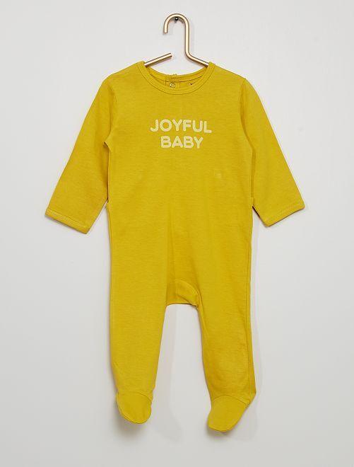 Pijama eco-concepción                                                                                         AMARILLO