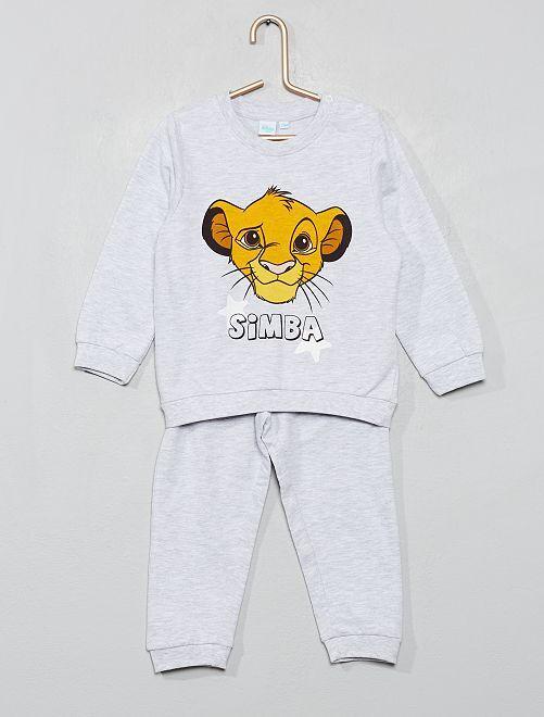 Pijama 'El Rey León' de felpa ligera                             gris chiné