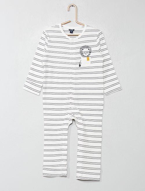 Pijama estampado                                         BLANCO Bebé niño