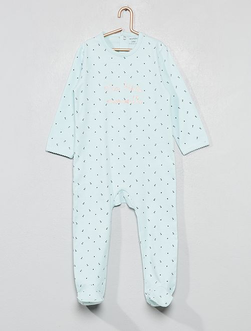 Pijama estampado brillante                                                                 AZUL Bebé niña
