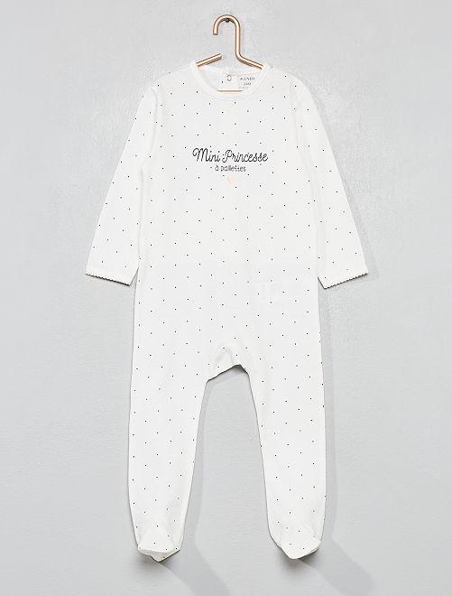 Pijama estampado brillante                                                                 BLANCO Bebé niña