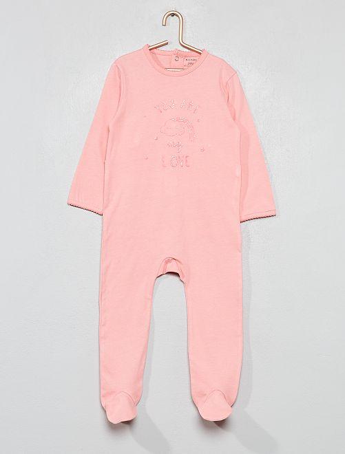 Pijama estampado brillante                                                     ROSA