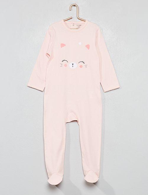 Pijama estampado brillante                                                                 ROSA Bebé niña