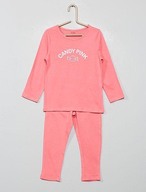 Pijama estampado 'caramelo'                                         ROSA
