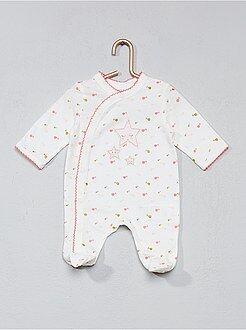 Niña 0-36 meses - Pijama estampado con bies - Kiabi