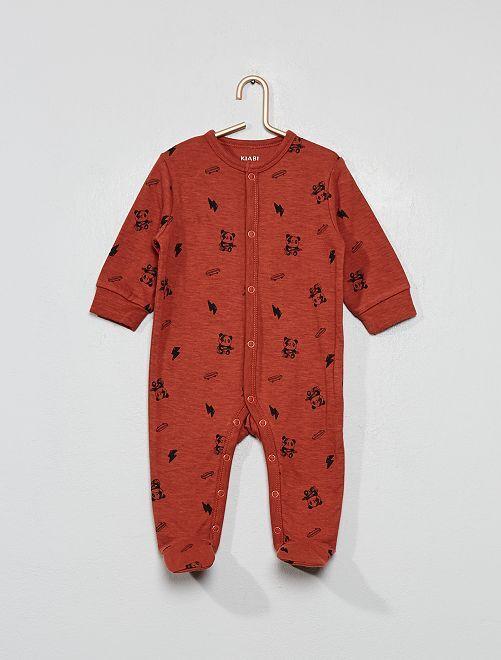 Pijama estampado con motivos 'rock'                             MARRON