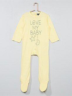 Pijamas, batas - Pijama estampado con pies - Kiabi