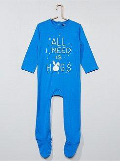 Pijamas - Pijama estampado con pies - Kiabi