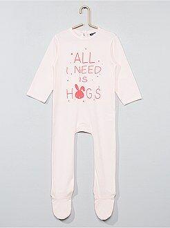 Niña 0-36 meses - Pijama estampado con pies - Kiabi