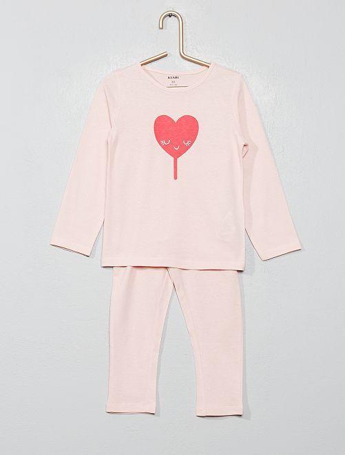 Pijama estampado 'corazón'                                                                                         ROSA Chica