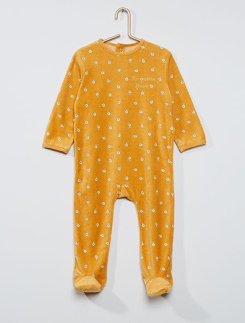 Pijama estampado eco-concepción                                                                                                                                                                                                                                                                             AMARILLO
