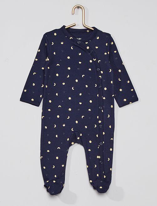 Pijama estampado eco-concepción                                                                                         AZUL