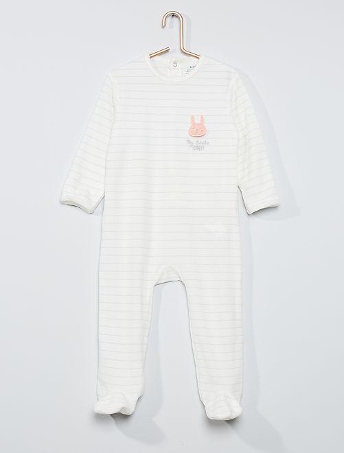 Pijama estampado eco-concepción                                                                                                                                                                                                                                                                 BEIGE