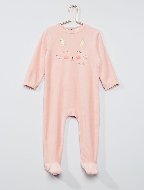 Pijama estampado eco-concepción                                                                                                                                                                                                                                                                 conejo