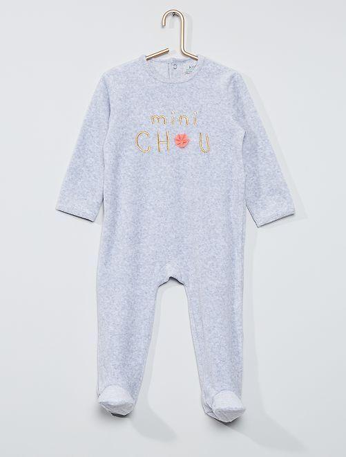 Pijama estampado eco-concepción                                                                                                                                                                                                                                                                             GRIS