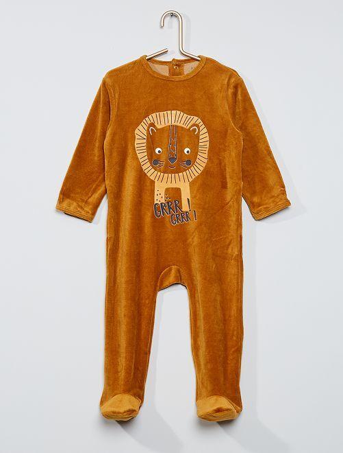 Pijama estampado eco-concepción                                                                                                                                                                                                                                                                 MARRON