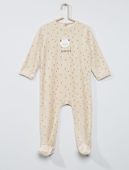 Pijama estampado eco-concepción                                                                                                                                                                                                                                                                 oso