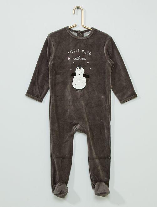 Pijama estampado eco-concepción                                                                                                                                                                                                                                                                 pingüino