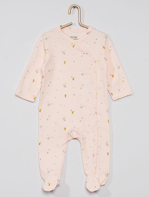 Pijama estampado eco-concepción                                                                                         ROSA