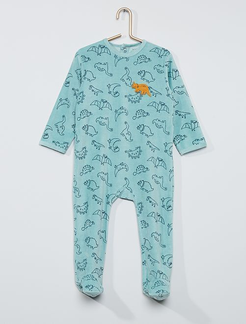 Pijama estampado eco-concepción                                                                                                                                                                                                                                                                 VERDE