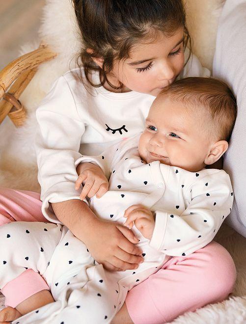 Pijama estampado ecodiseño                                                     BLANCO Bebé niña