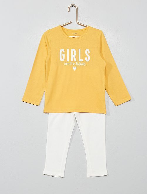 Pijama estampado 'girls'                                         AMARILLO
