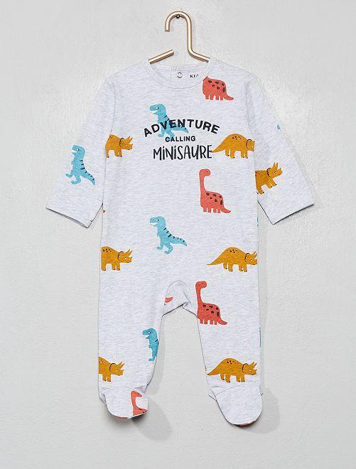 Pijama estampado                                                                                                                                         GRIS