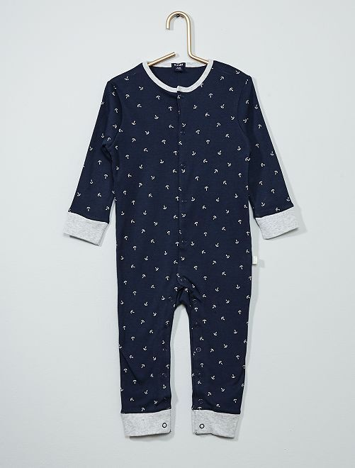 Pijama estampado 'marinero'                                         AZUL