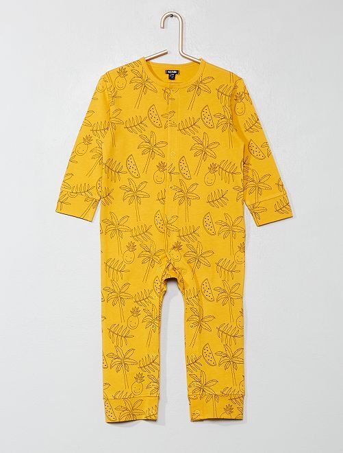 Pijama estampado                                         NEGRO Bebé niño