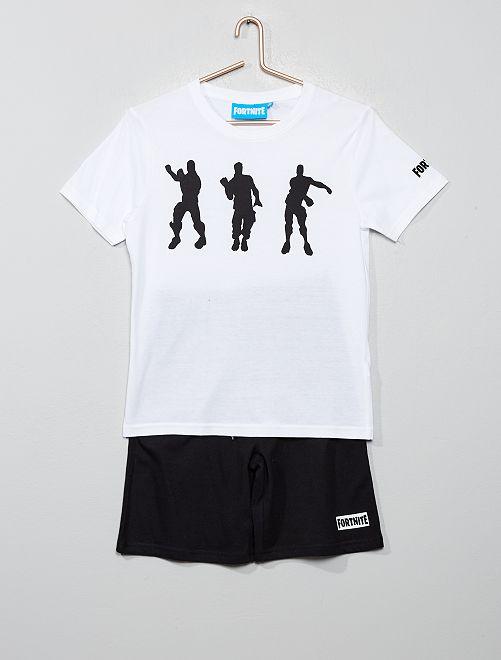 Pijama 'Fortnite' 100 % algodón                             BLANCO