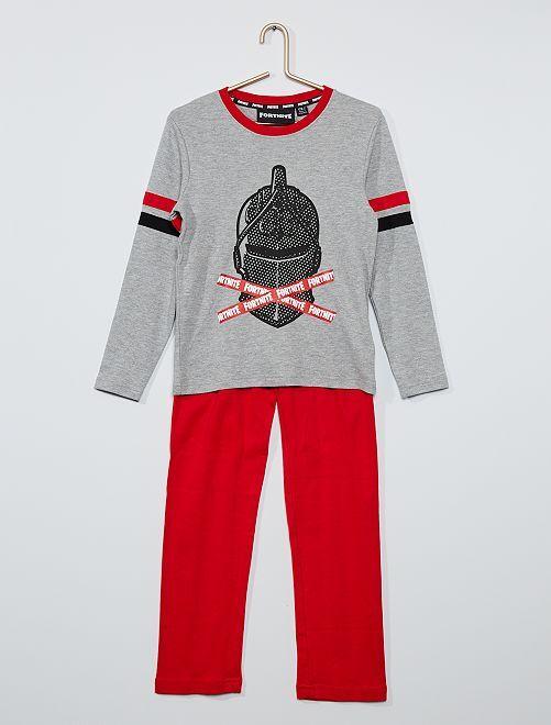 Pijama 'Fortnite'                             gris/rojo