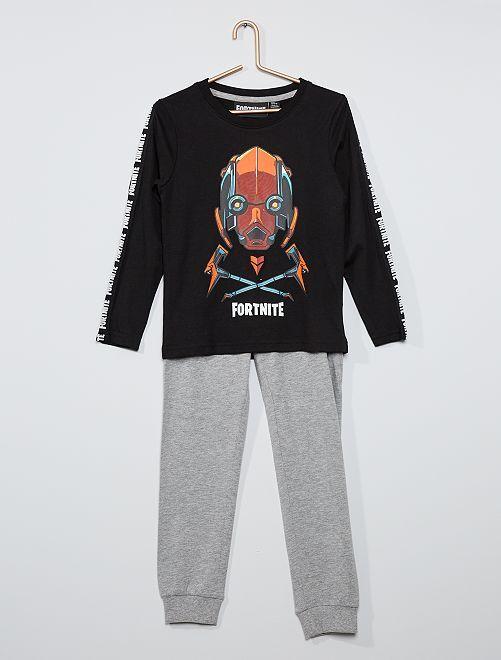 Pijama 'Fortnite'                             negro/gris