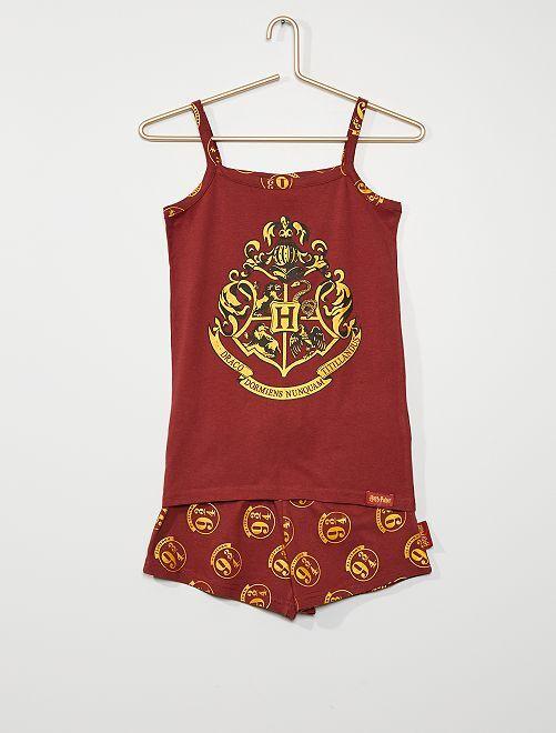 Pijama 'Harry Potter'                             burdeos