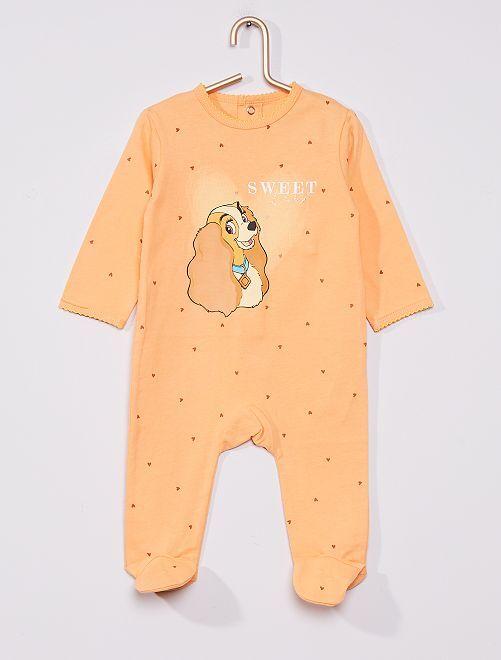 Pijama 'La dama y el vagabundo' de 'Disney'                                                                 NARANJA