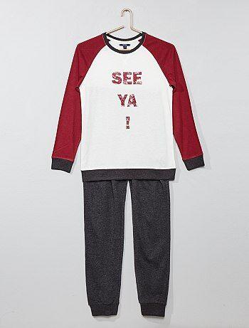 610664f10 pijamas largos para niños - ropa de noche Joven niño